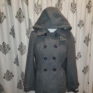 Calvin Klein Jackets & Coats - Great condition grey Calvin Klein Hooded Jacket 10